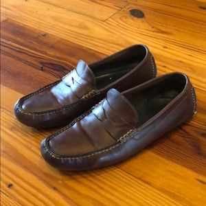 Cole Haan driving loafers - size 10.5 D - brown